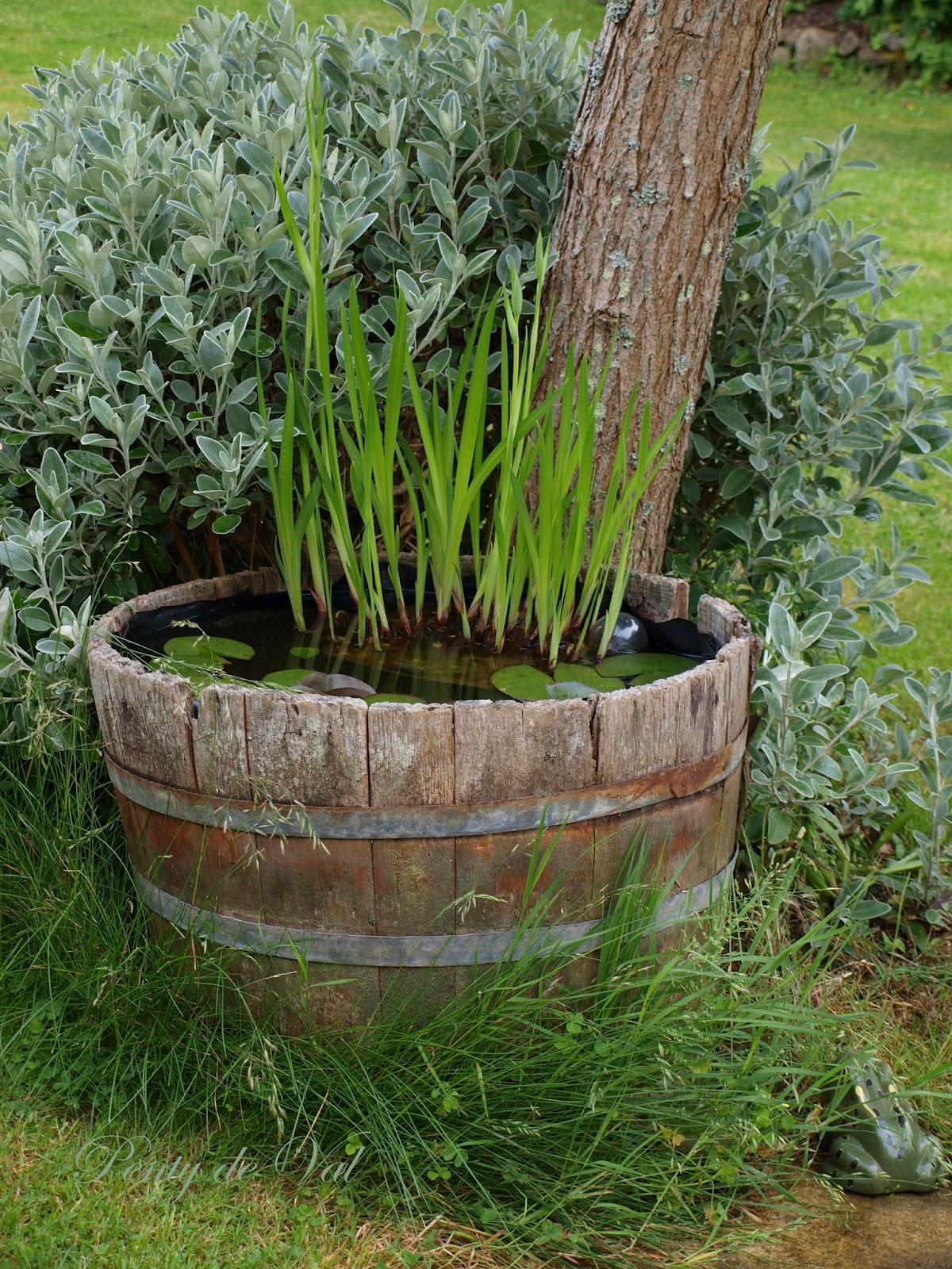 Penty de val un mini bassin tonneau dans le jardin for Mini bassin de jardin