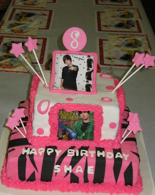 justin bieber cake images. Justin Bieber Birthday Cakes
