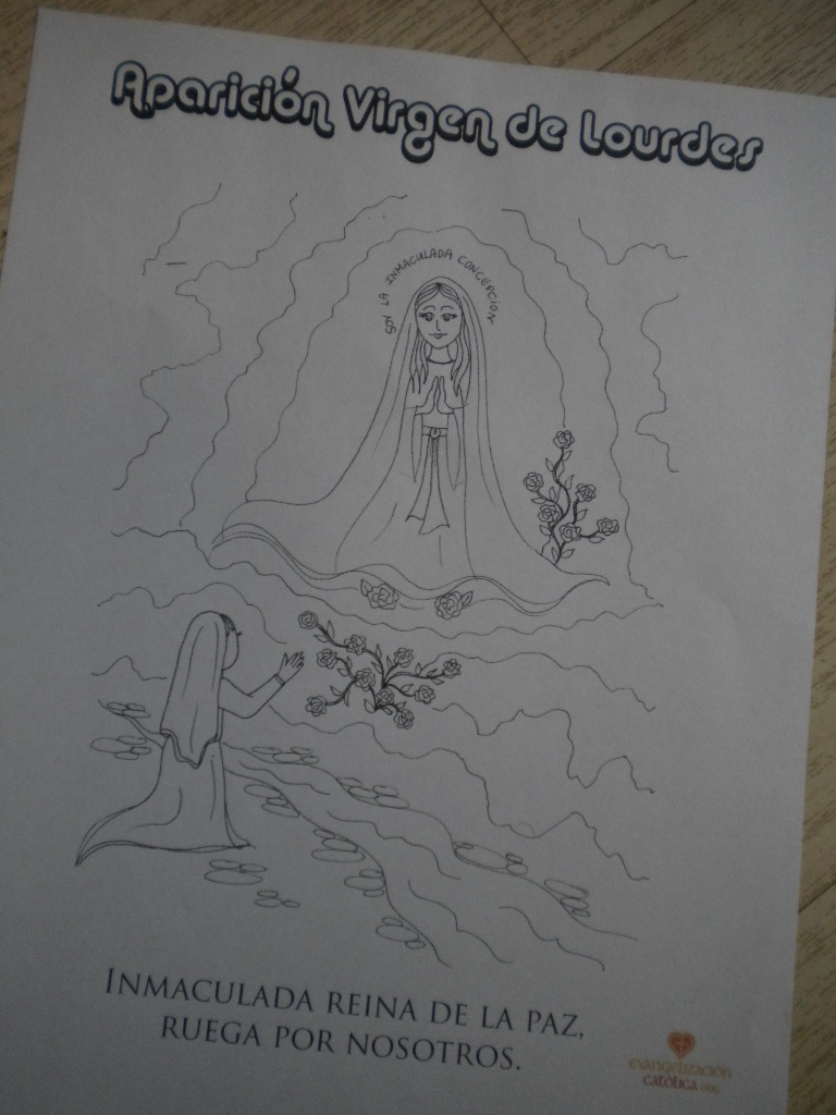 de la Virgen: Dibujos para Colorear de Evangelización Católica