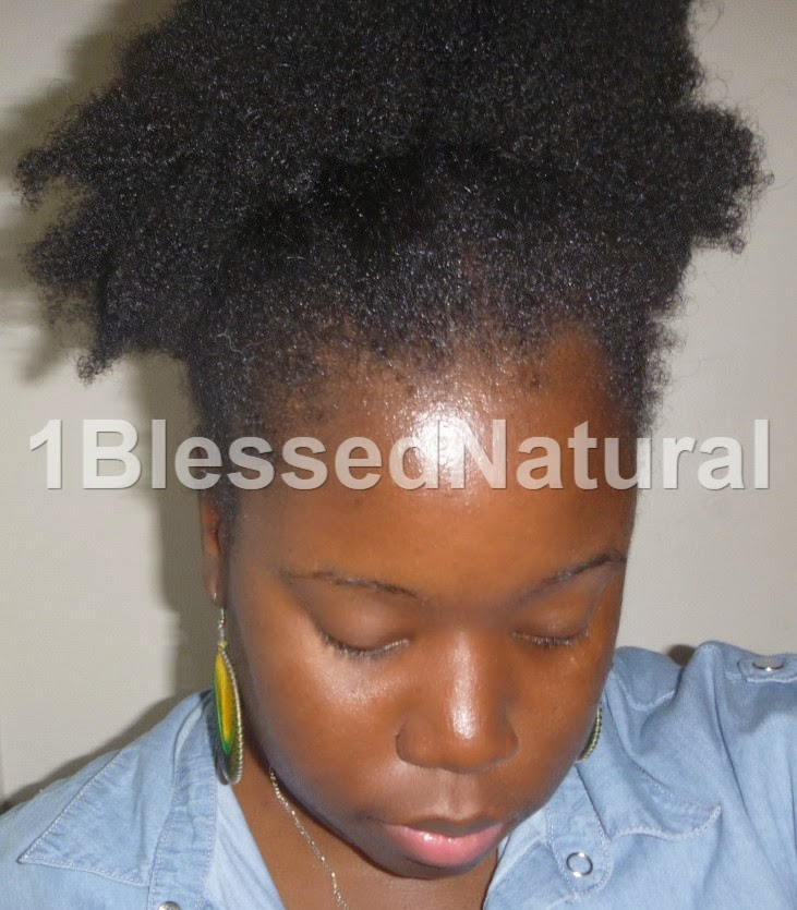 Copyright 2015 1BlessedNatural - messy puff picture