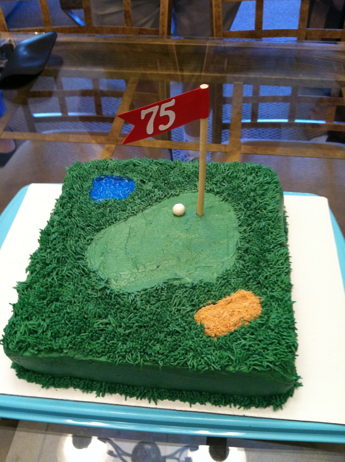 The Weekly Sweet Experiment: Dads 75th Golf Birthday Cake