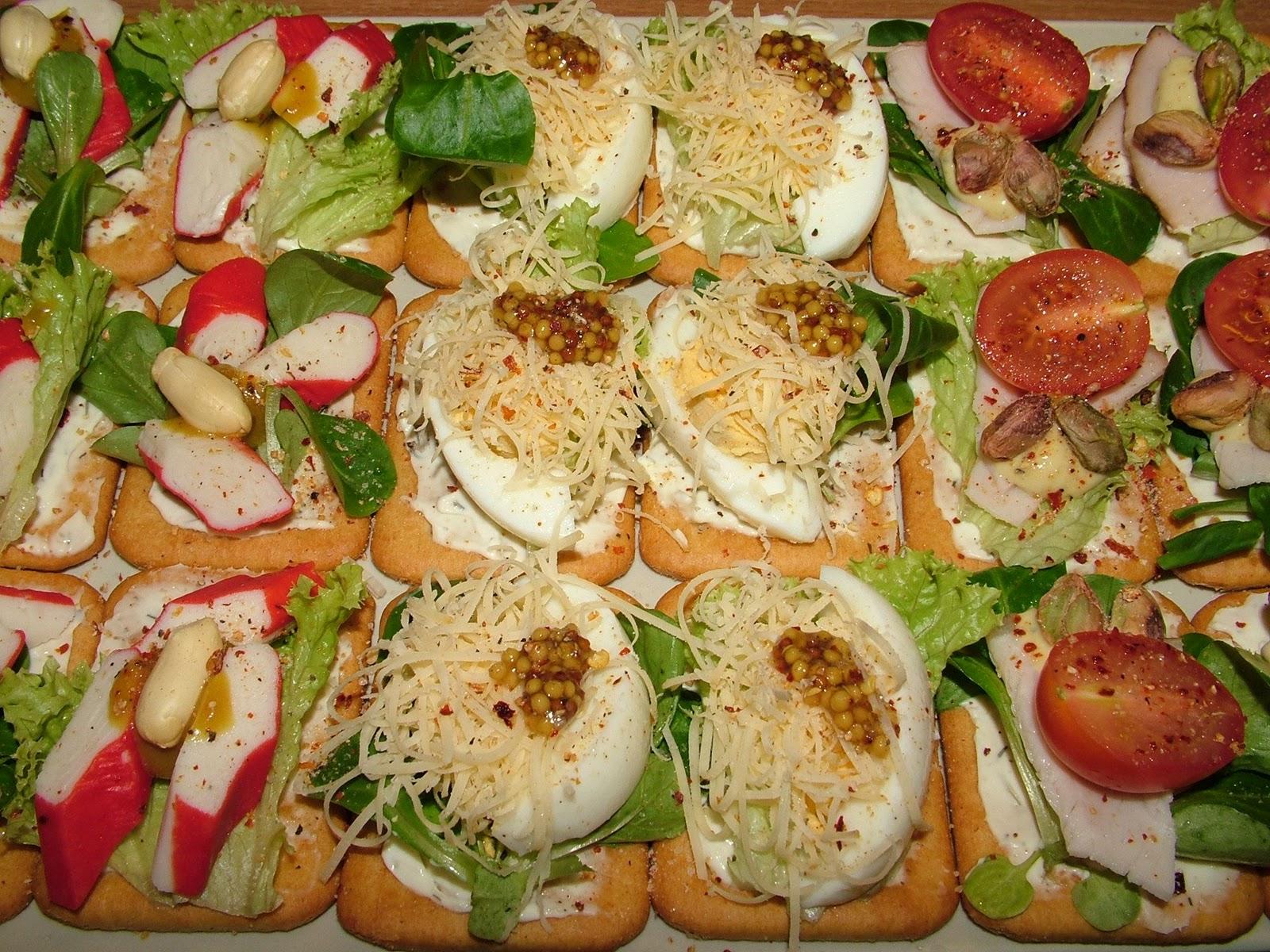Kanapeczki na krekersach