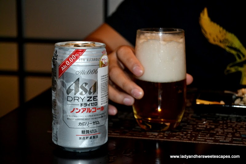 non-alcoholic Japanese beer at Dragon's Place