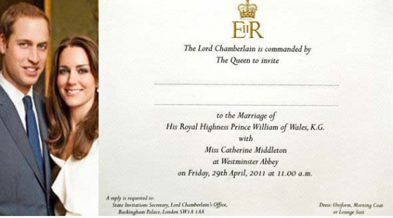 royal wedding invite wording. royal wedding invitation font.