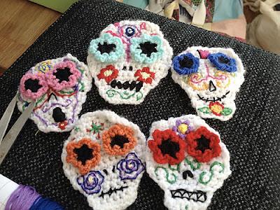 free crochet pattern sugar skull