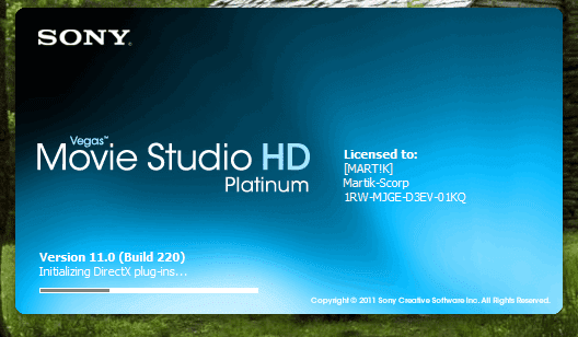 numero de serie para sony vegas movie studio hd 11.0