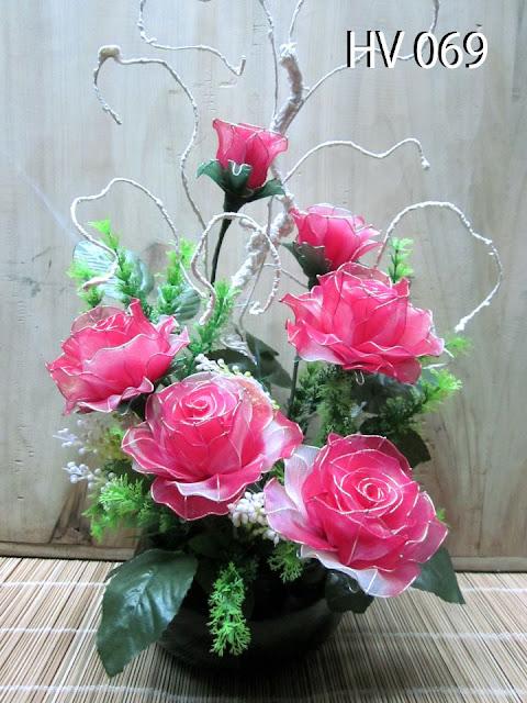 hoa voan trang tri