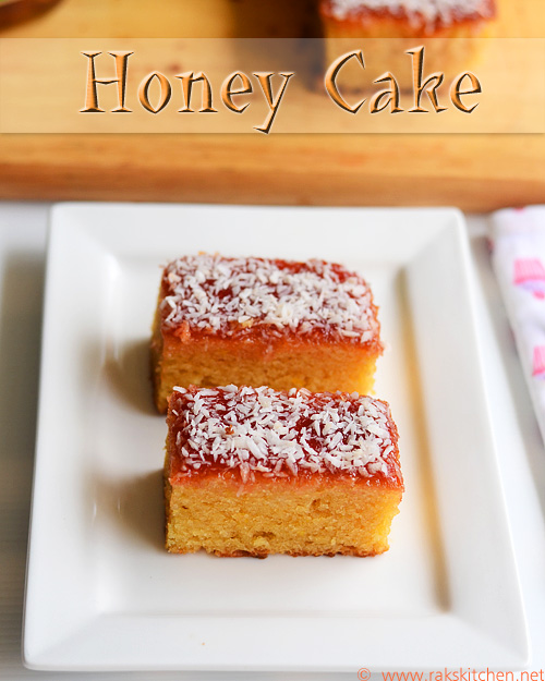 Eggless honey cake recipe (Indian bakery style)