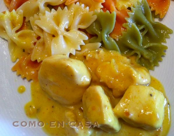 Como en casa pollo al curry for Como cocinar pollo al curry