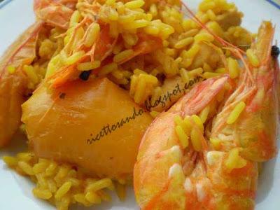 paella piatto di origine spagnola a base di riso