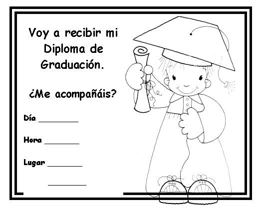 Tarjetas de invitación de graduación infantil - Imagui
