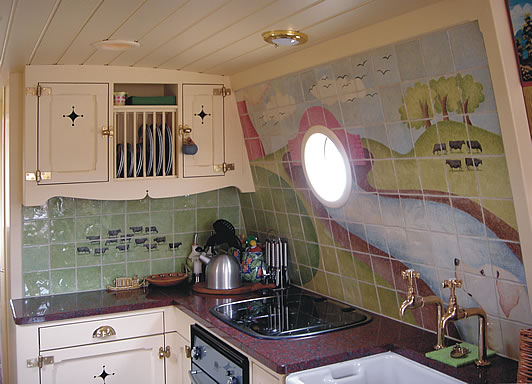 Domythic bliss houseboats canal boats barges for Narrowboat interior designs