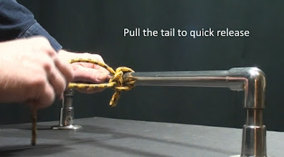demonstration of a quick release of a Painter Hitch