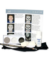 Makeup Deals on Skeleton Character Makeup Face Paint Apply On Wicked Skeleton Makeup