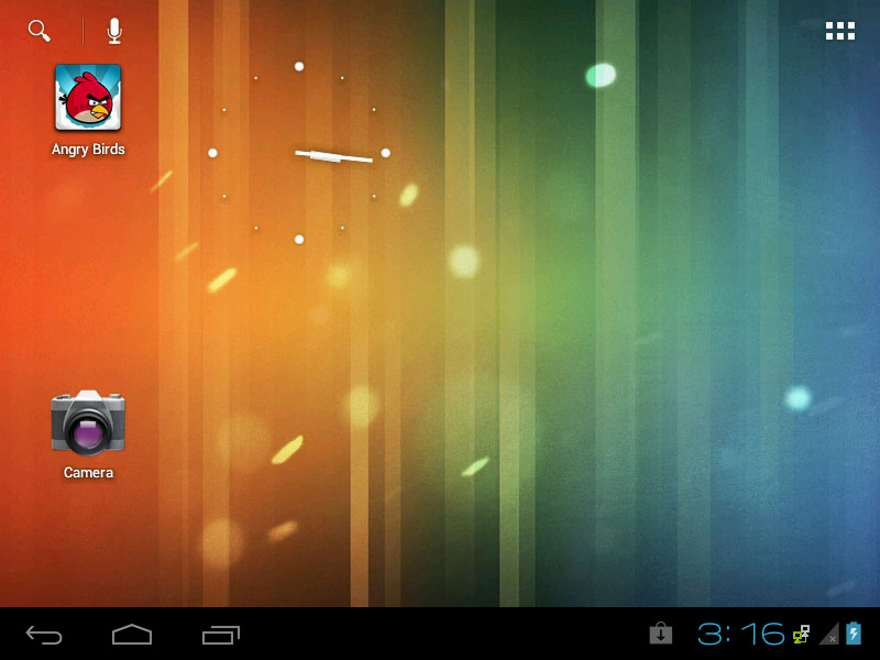 Android-x86 4.0.4 ICS RC2 - Home Screen