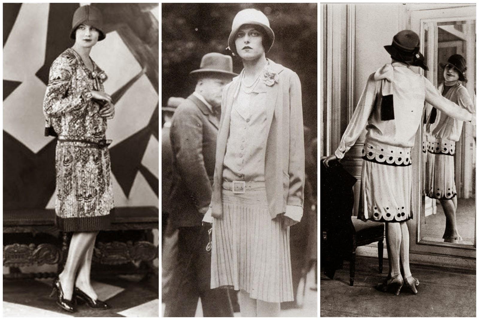Stile di abbigliamento femminile presentato a Parigi nel 1924 bdd1103d0b4c