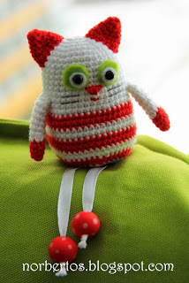 Crochet cat Christmas