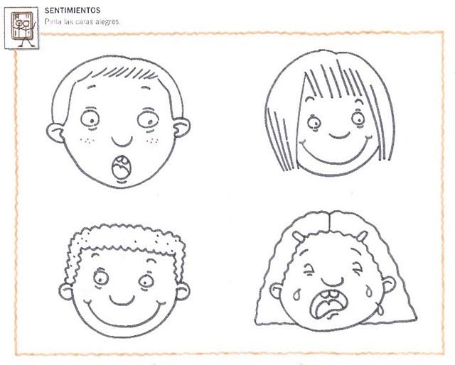 Fichas Infantiles: Fichas de sentimientos