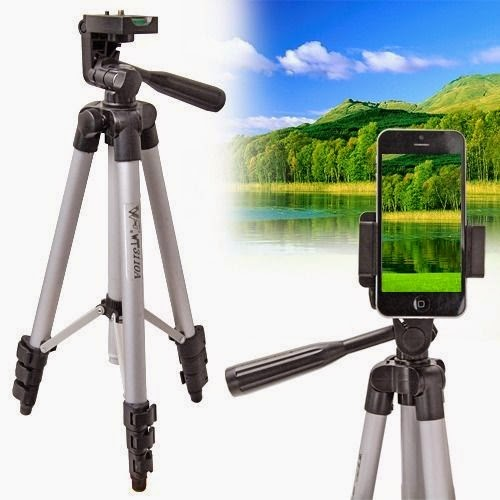 Universal Aluminium Camera Stand Holder Monopod Tripod For iPhone 5 5C 5S 4 4S