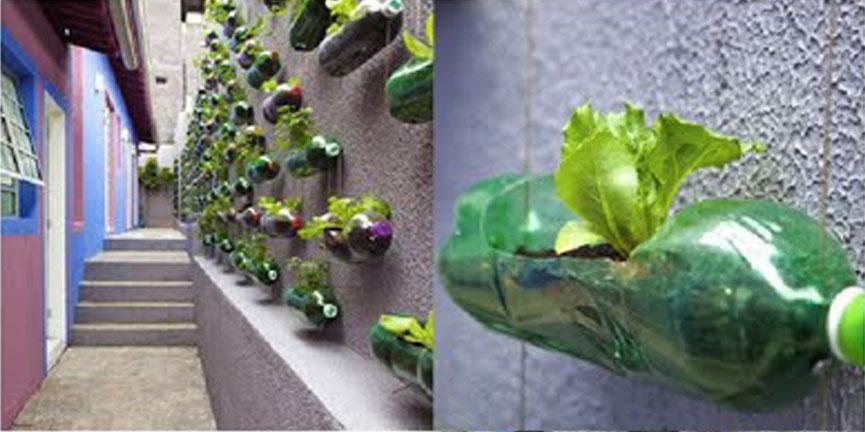 Hablemos de sostenibilidad arquitectura del reciclaje for Jardines caseros colgantes