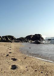Pégadas na Areia