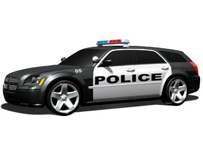 SUV Police Car