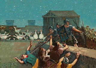 Le oche salvarono Roma dai Galli