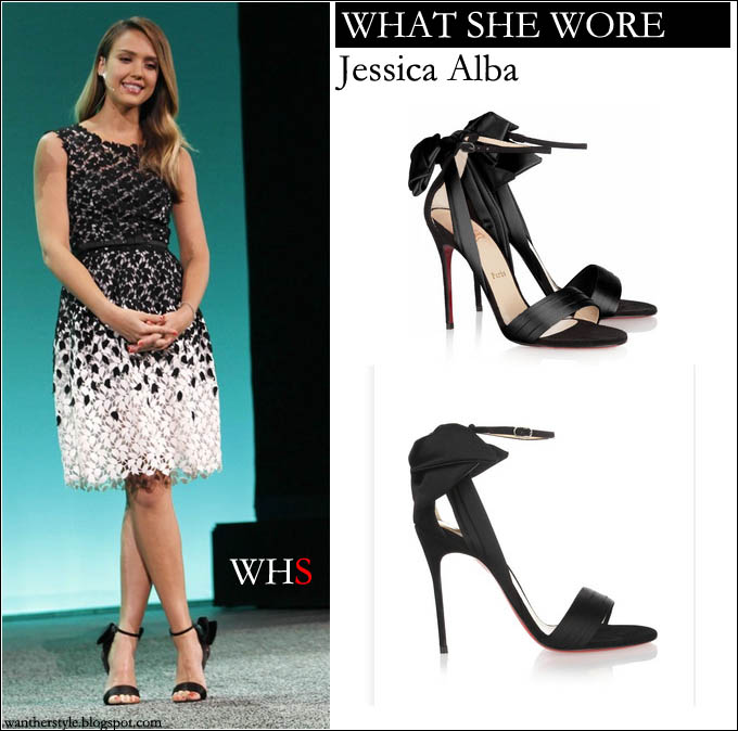 Want that dress black and white shoe