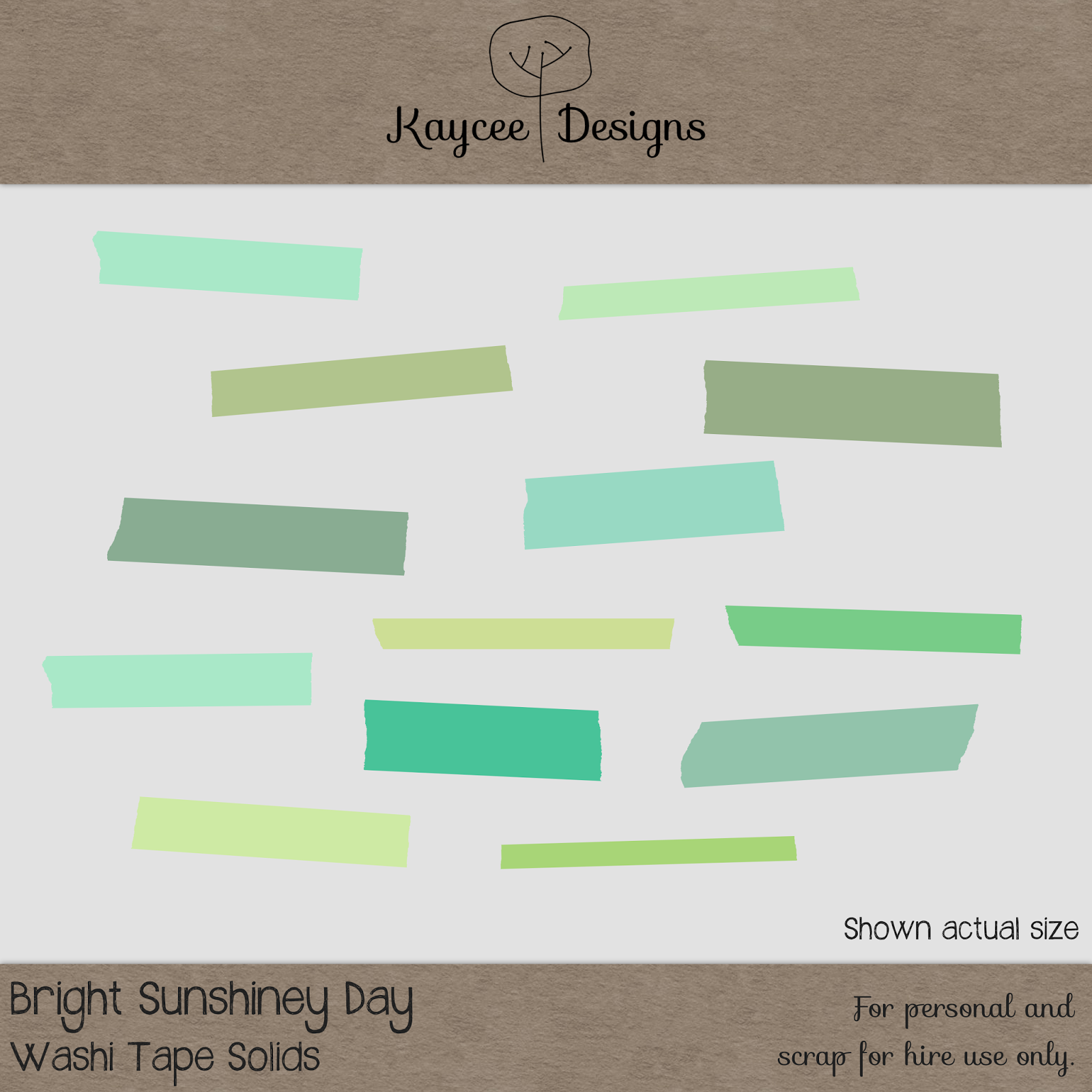 Free scrapbook Washi Tape Solids from Kaycee