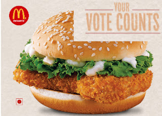 Now Vote For McD Burger And Get Freecharge Rs. 50 Cashback On Recharge of Rs. 50 With Voucher for Rs. 50 only.