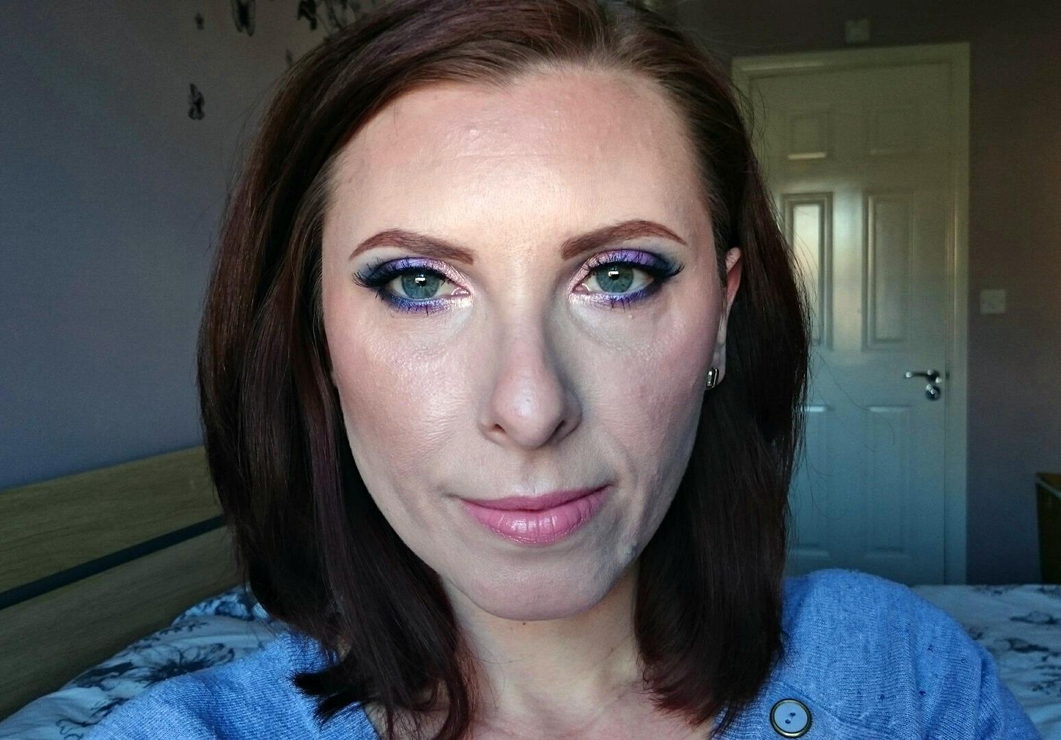 Zoeva Retro Future makeup look