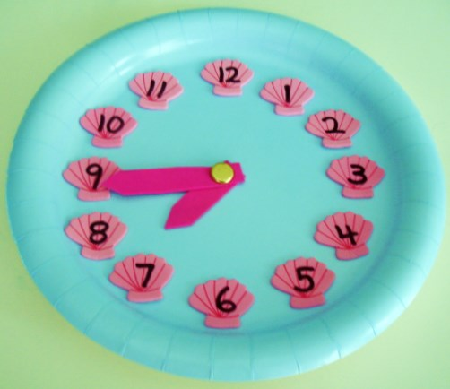 Seashell Paper Plate Clock  sc 1 st  Learning Ideas - Grades K-8 - Blogger & Learning Ideas - Grades K-8: Summer Time - Fun Paper Plate Clocks