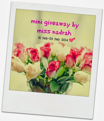 http://nadcontestandgiveaway.blogspot.com/2014/02/mini-giveaway-by-miss-nadrah.html