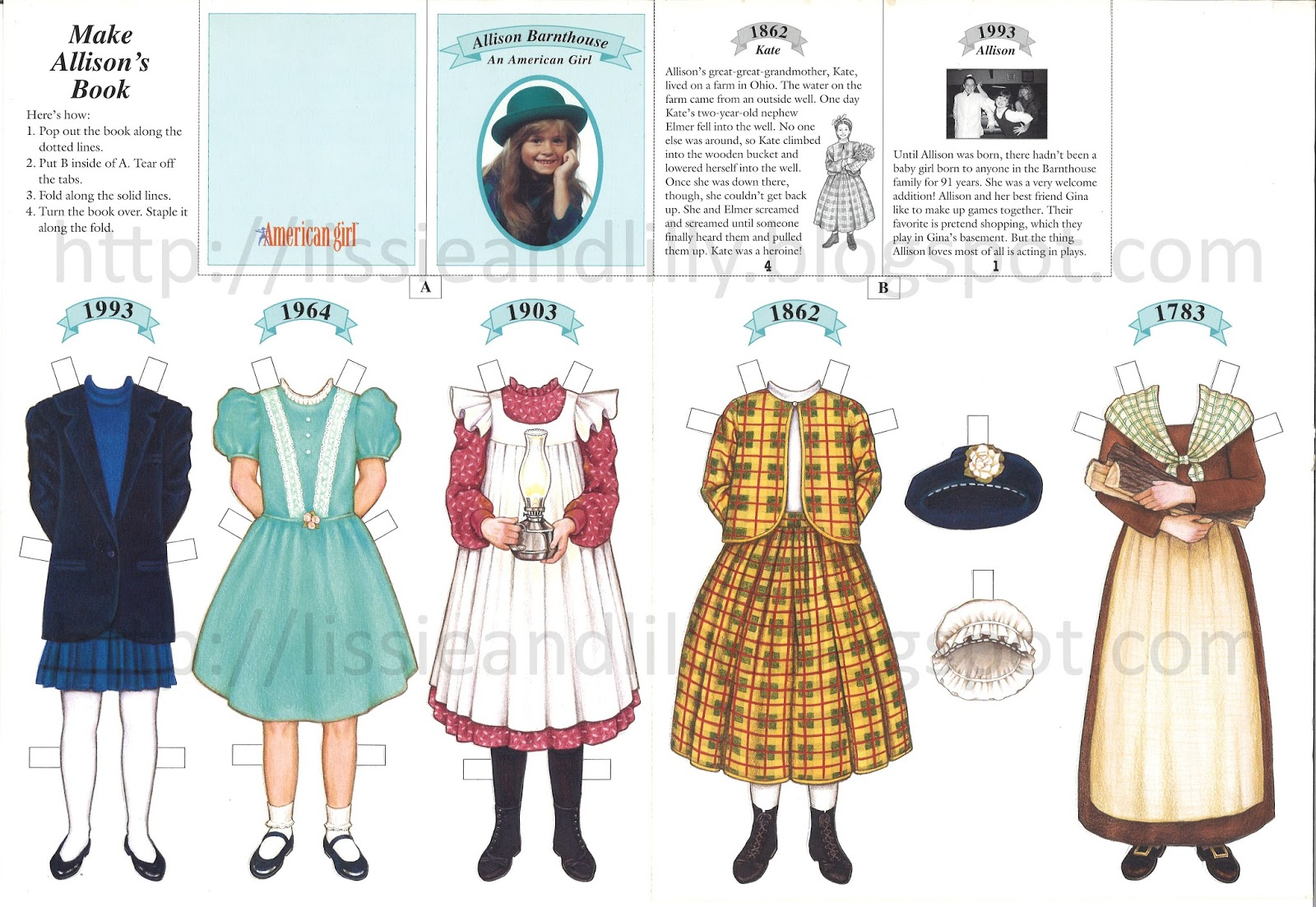 7b233d0c200 Lissie & Lilly: AG Magazine Paper Dolls