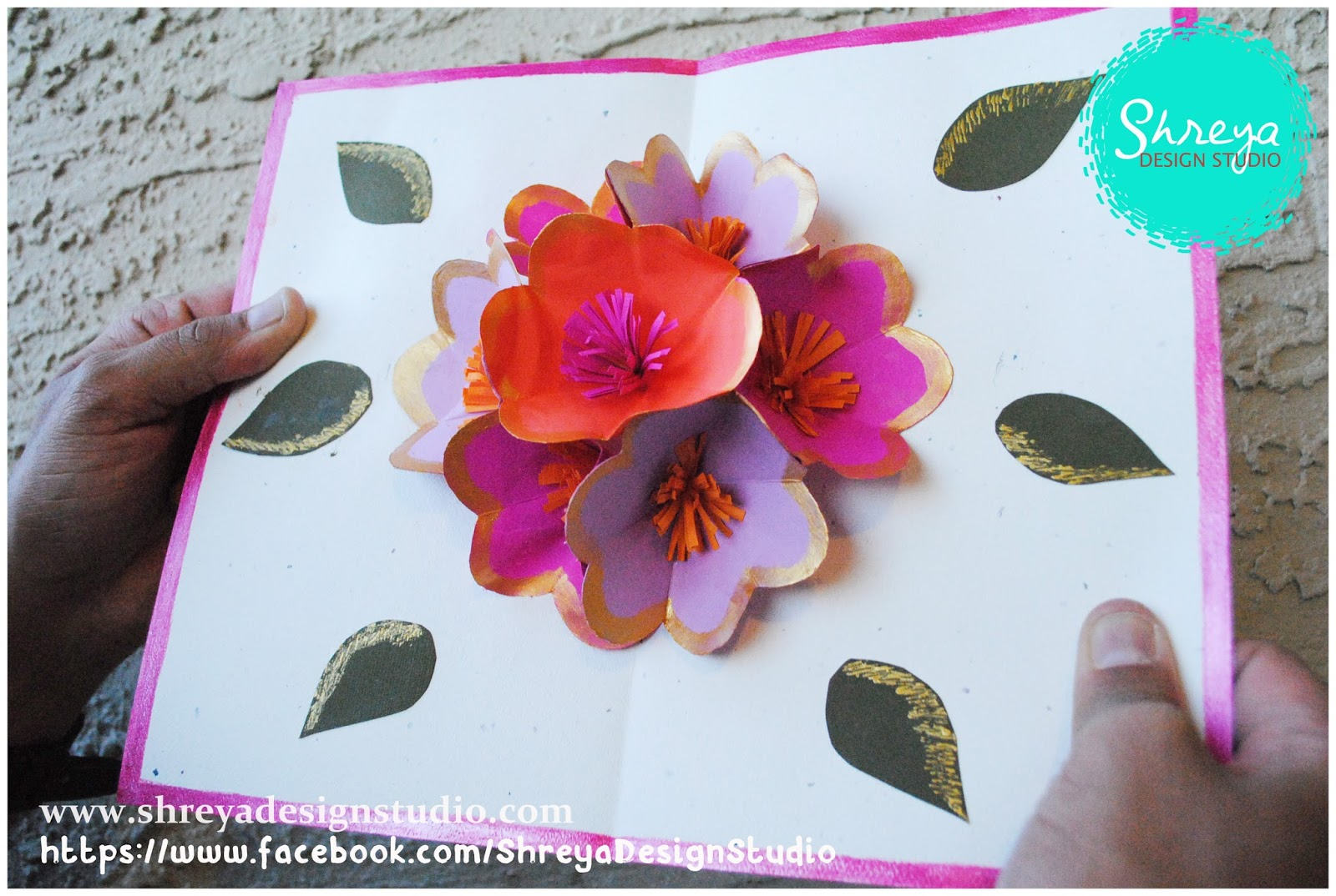 Tutorial how to make a seven flower pop up card shreya design studio your card is sure to make someones day kristyandbryce Choice Image