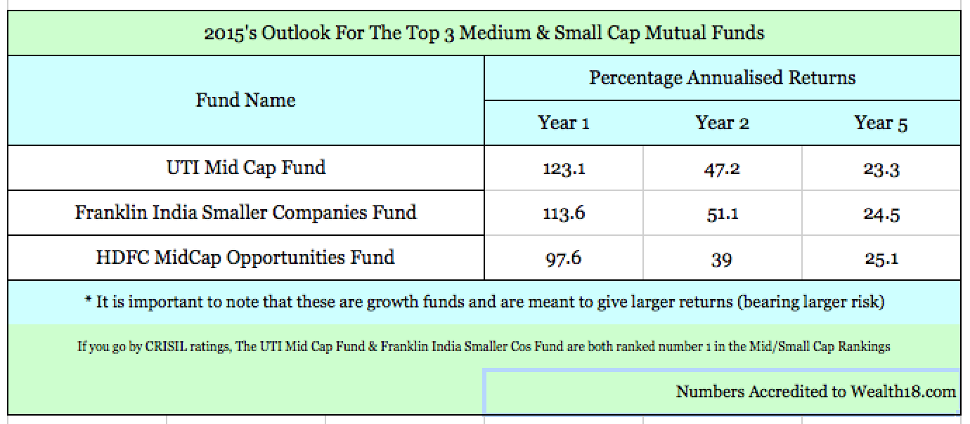 Your Mid / Small Cap Mutual Fund Picks For 2015
