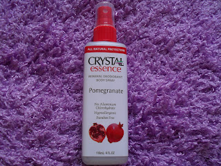 Crystal Body Deodorant, Mineral Deodorant Body Spray, Pomegranate