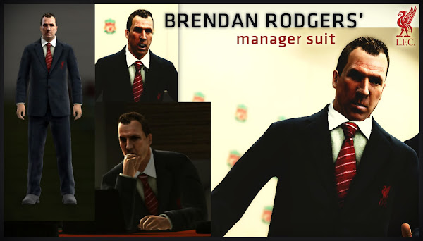 PES 2013 Brendan Rodgers Manager Suit Kits by JIYIN