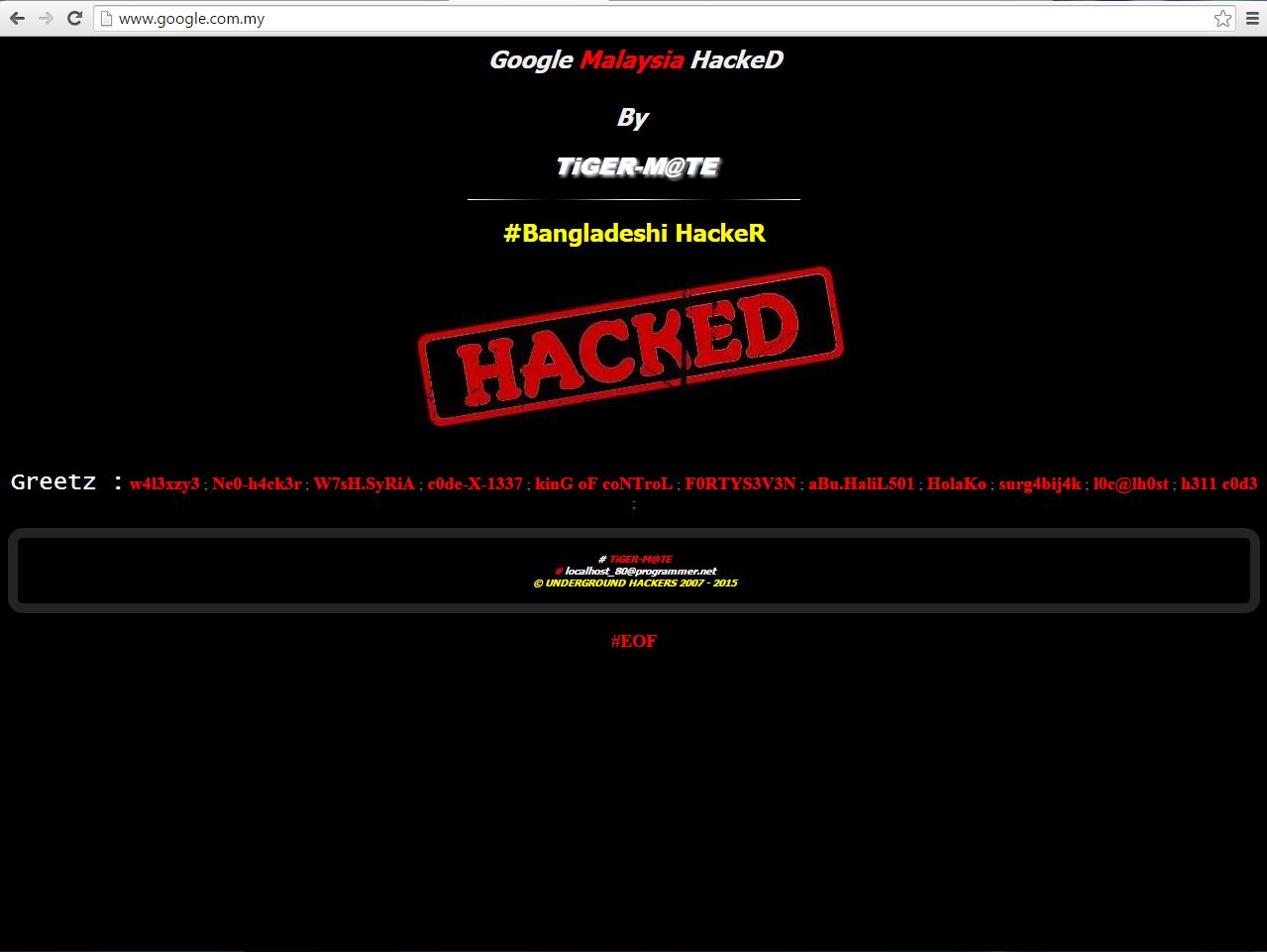 Laman Web Google Dan Youtube Malaysia Digodam