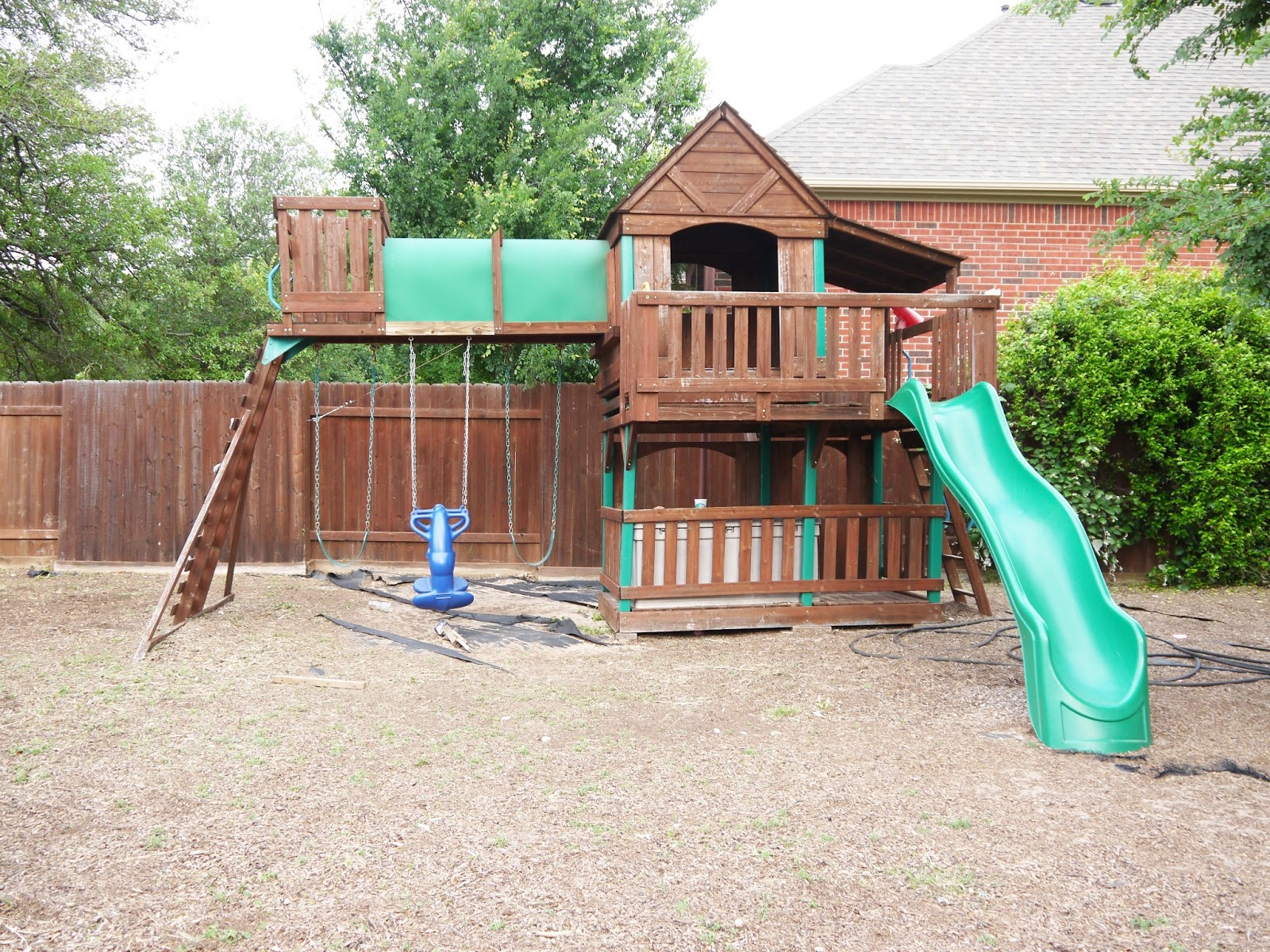so much to dew revamped playscape adding monkey bars