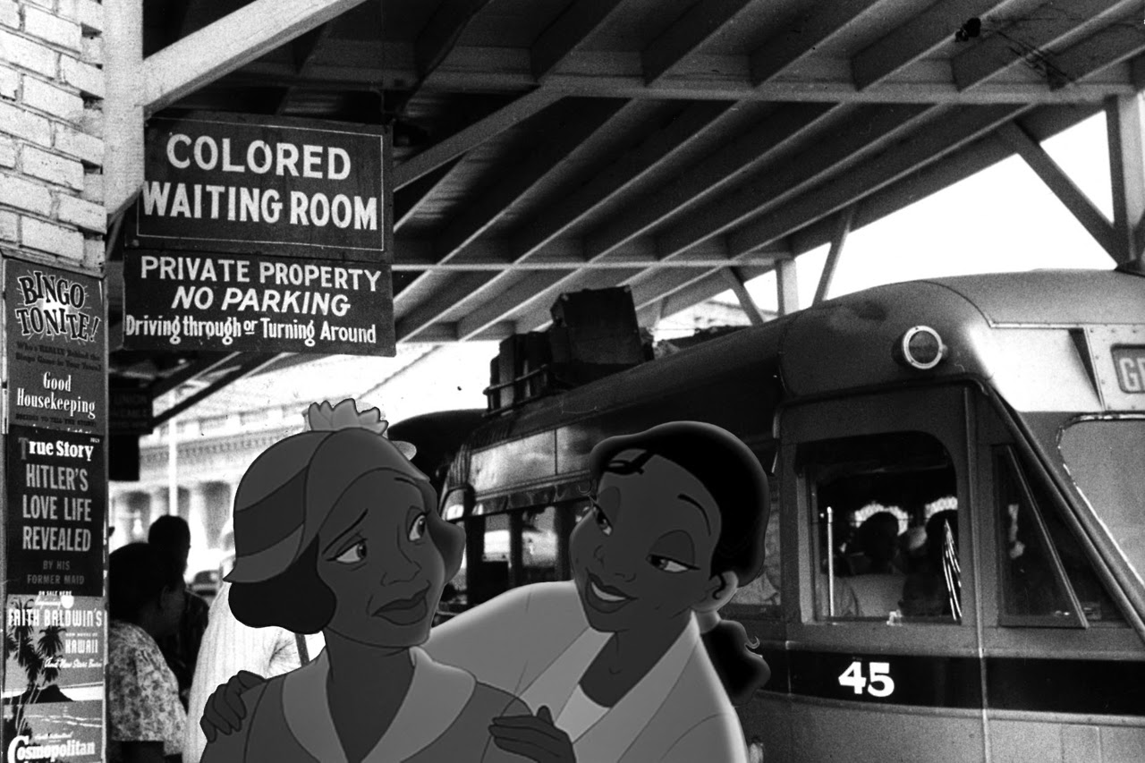 Princess and the frog in segregated America