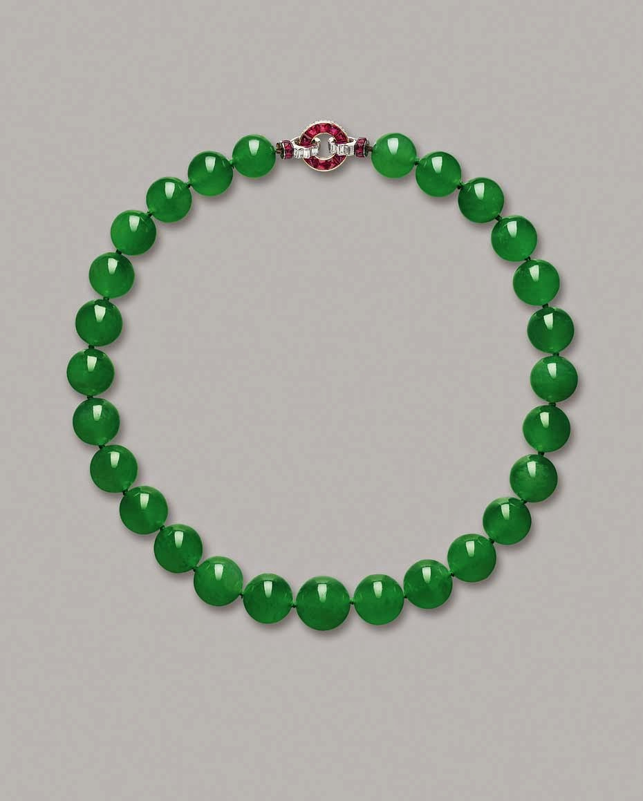 The Barbara Hutton-Mdivani Jadeite Necklace