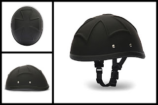 3-D Eagle Iron Cross Novelty Helmet Dull Black
