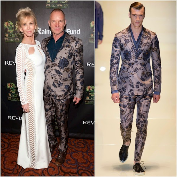 Sting in Gucci - 25th Anniversary Concert For The Rainforest Fund