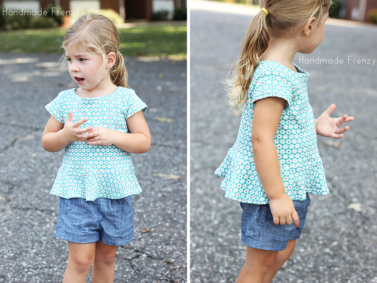 Pretty In Peplum Dress and Top - Pattern by Sew Much Ado