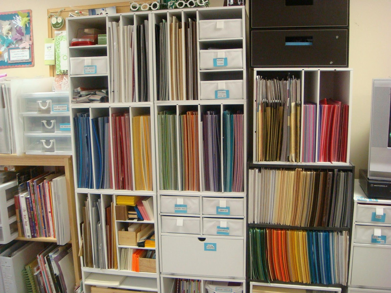 carolyn 39 s creative corner craft room organization 2012 On craft paper storage ideas