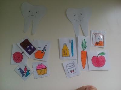 montessori activity tooth