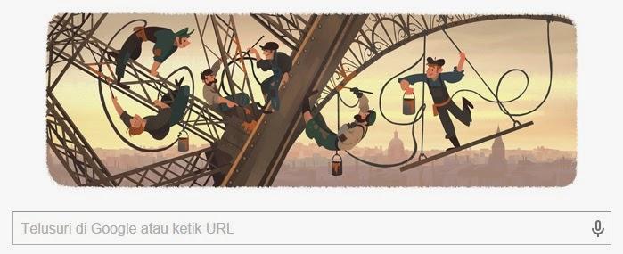 Google Doodle Hari Ini Merayakan 126 Tahun Pembukaan Menara Eiffel Ke Publik