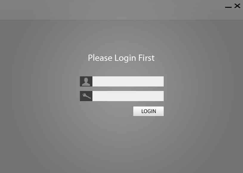 Tampilan Login Aplikasi