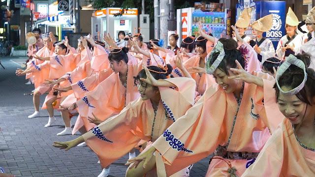 りずむ連 小金井阿波踊り 2015 ムサコ通り舞台踊り